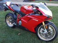 2008 Ducati 1098 R with 1400 miles. This exotic bike
