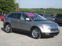 2008 FORD EDGE LIMITED SILVER 4X4 AWD V-6 AUTOMATIC
