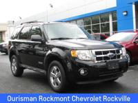 CARFAX One-Owner. Black 2008 Ford Escape XLT Duratec