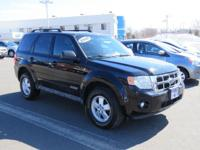 CLEAN CARFAX. Escape XLT, Duratec 3.0L V6, AWD, Black,