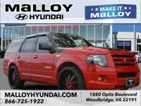 Clean CARFAX. Red 2008 Ford Expedition Limited 4WD
