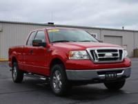 New Price! Bright Red Clearcoat 2008 Ford F-150 XLT 4WD