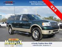 This 2008 Ford F-150 Lariat in Forest Green Clearcoat