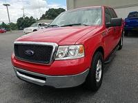 Clean CARFAX. Bright Red Clearcoat 2008 Ford F-150 XLT