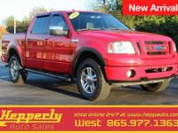 Clean CARFAX. This 2008 Ford F-150 FX4 in Bright Red