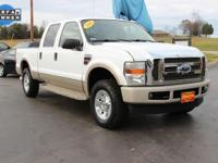 Clean CARFAX. This 2008 Ford F-250SD in White features.