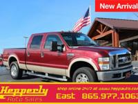 Clean CARFAX. This 2008 Ford F-250SD Lariat in Dark
