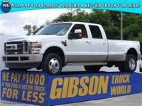 WWW.GIBSONTRUCKWORLD.COM*2008 Ford F350 King Ranch Crew