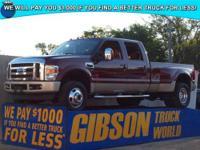 WWW.GIBSONTRUCKWORLD.COM*2008 Ford F350 King Ranch V10