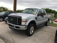 Clean CARFAX. Silver 2008 Ford F-350SD Lariat 4WD Power
