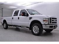 2008 Ford F-350 with a 6.4L V8, Diesel, . White with