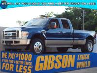 WWW.GIBSONTRUCKWORLD.COM 2008 Ford F450 King Ranch Crew