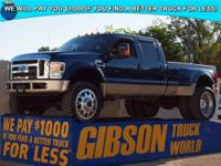 WWW.GIBSONTRUCKWORLD.COM*2008 Ford F450 King Ranch Crew