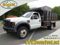 2008 FORD F-550 SUPER DUTY DUMP TRUCK, PICKUP TRUCK