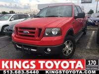 CARFAX One-Owner. Clean CARFAX. Red 2008 Ford F-150 FX4