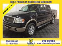 This is a 1-OWNER 2008 FORD F-150 LARIAT CREW CAB 4X4