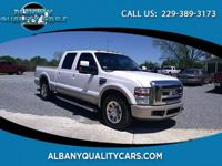 Clean CARFAX. White 2008 Ford F-250SD King Ranch RWD