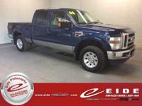 This 2008 Ford F-250SD Lariat Crew Cab is Dark Blue