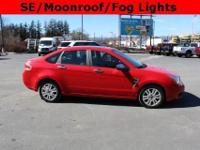 2008 Ford Focus SE Vermillion Red Clearcoat Charcoal