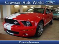 Enjoy the open road in this 2008 Ford Shelby GT500,