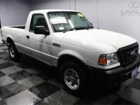 Ranger XL, 2D Standard Cab, 5-Speed, and White. Ford