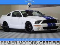 Options:  2008 Ford Shelby Gt500 White|5.4L V8|Manual