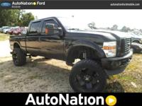Lifted! Equipped with 4WD, this Ford Super Duty F-250