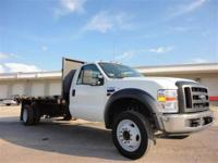 THIS 2008 FORD F550 FLATBED JUST CAME IN. THIS FORD