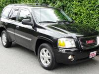 New Price! Clean CARFAX. Onyx Black 2008 GMC Envoy SLE