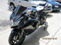 2008 Suzuki GSX-R600. 11,067 miles, Black, Blacked out