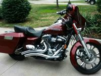 2008 Harley Davidson FLHX Street Glide. Bike has less
