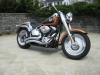 This is a 2008 Harley-Davidson FLSTF Fatboy 105th