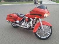 08 Harley Roadglide, 1 owner, Mirage Orange with tour