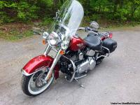 Very low mileage on this perfect 2008 Softail Deluxe -