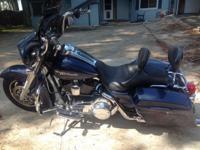 2008 Harley Davidson Street Glide, blue, 23k miles,