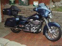 Selling my 2008 street glide. Bike is dark blue pearl