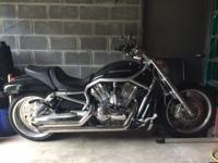 2008 V Rod VRSCAWA Black 2574 miles Corbin seat Bub Jug