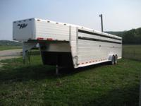 This is a 2008 Hillsboro 30' Aluminum Stock Trailer