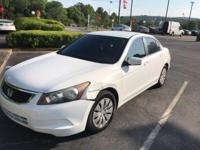 Taffeta White 2008 4D Sedan Honda Accord LX 2.4 FWD