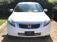 Options:  2008 Honda Accord Sdn Lx|White/|V4 2.4L