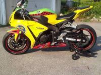 2008 Honda CBR 1000rr with a 2012 body kit and