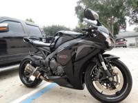 2008 Honda cbr1000rr, 5450 miles, Black, two brothers