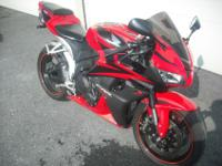 2008 Honda CBR600RR. This rocket is a one-owner,
