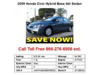 2008 Honda CivicHybrid Base 4dr Sedan Sedan 4 Doors