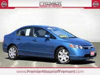 Silver 2008 Honda Civic LX FWD Compact 5 Speed