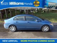 Options:  2008 Honda Civic Lx|Blue|16 Wheels W/Full