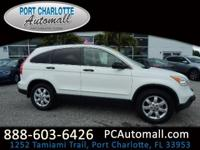 Clean CARFAX. White 2008 Honda CR-V EX FWD 5-Speed