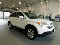 AWD. Clean CARFAX. White 2008 Honda CR-V EX-L AWD