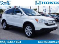 Recent Arrival! 2008 Honda CR-V EX-L White Odometer is