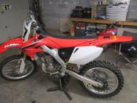 2008 honda CRF 250R. I bought the bike brand new and